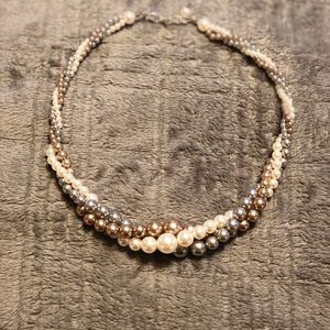 3 Strand Braided Faux Peal Necklace 💥5 for $25💥
